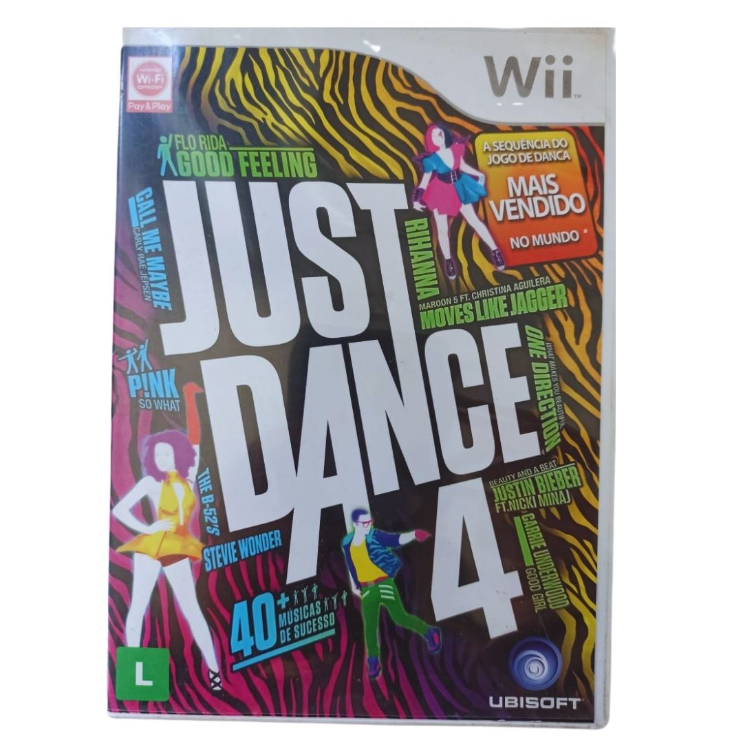 Just Dance 4 - Nintendo Wii - Usado