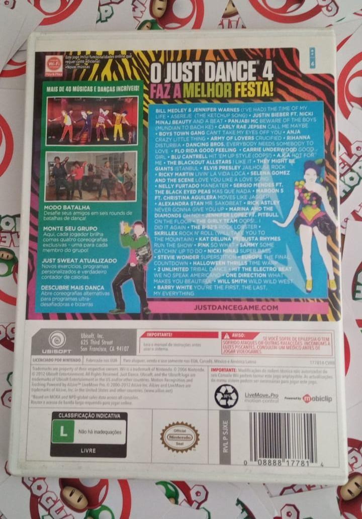 Just Dance 4 - USADO - Nintendo Wii