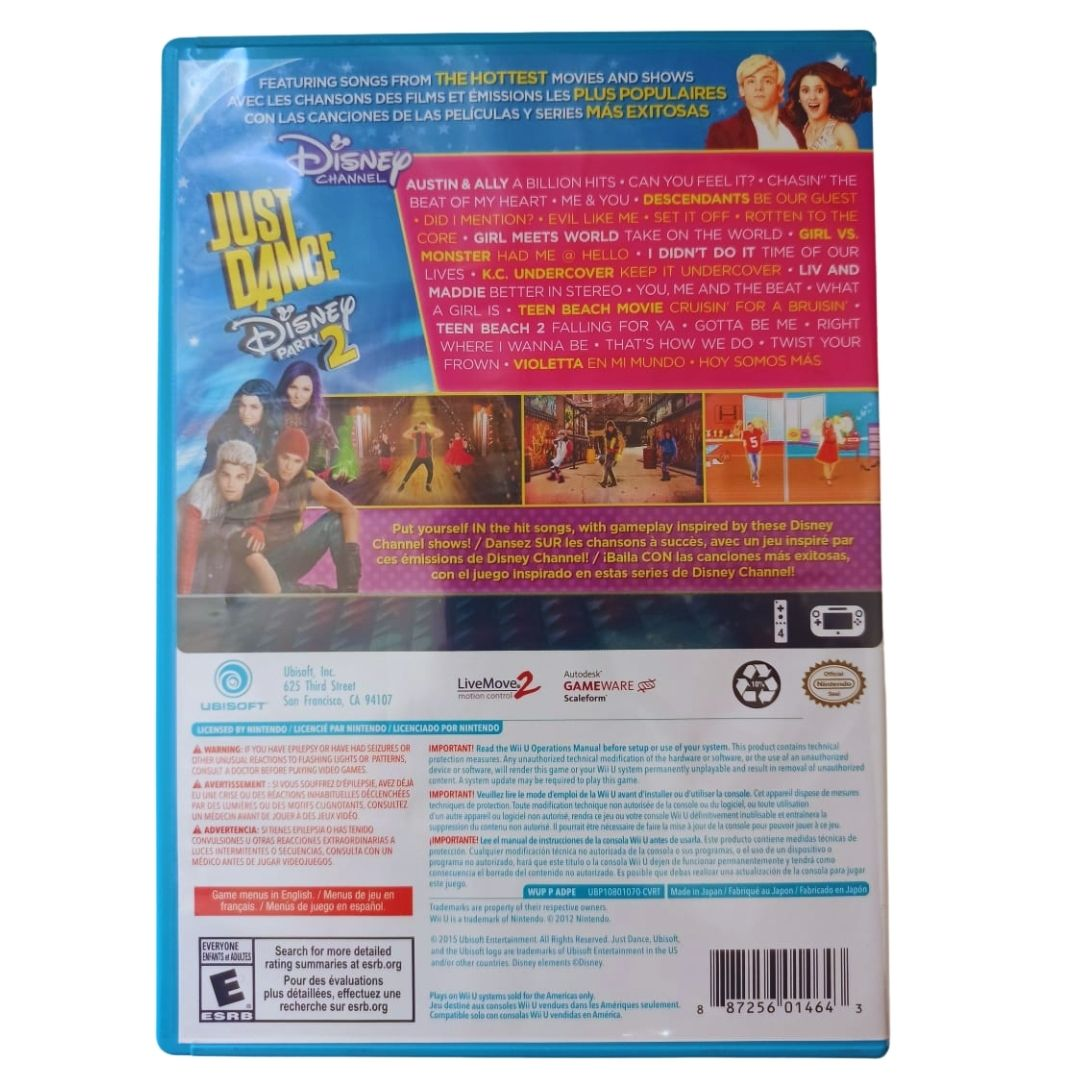 Just Dance: Disney Party 2 - Nintendo Wii U - Usado