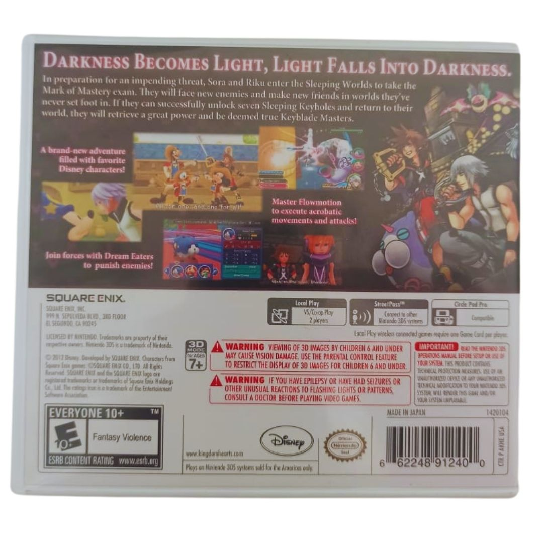 Kingdom Hearts 3D: Dream Drop Distance - Nintendo 3DS - Usado