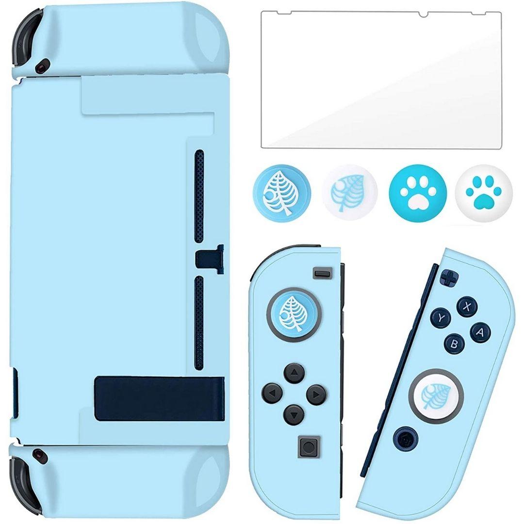 Kit Case Capa Protetora de Acrílico + Película + Protetores Analógicos - Nintendo Switch