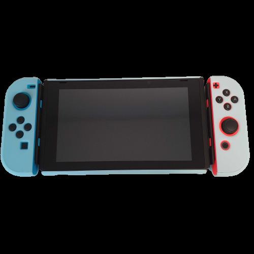 Kit de Proteção - Case + Capa + Película + Par de Protetores Analógicos - Azul - Nintendo Switch