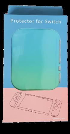 Kit de Proteção - Case + Capa + Película + Par de Protetores Analógicos - Gradiente - Nintendo Switch