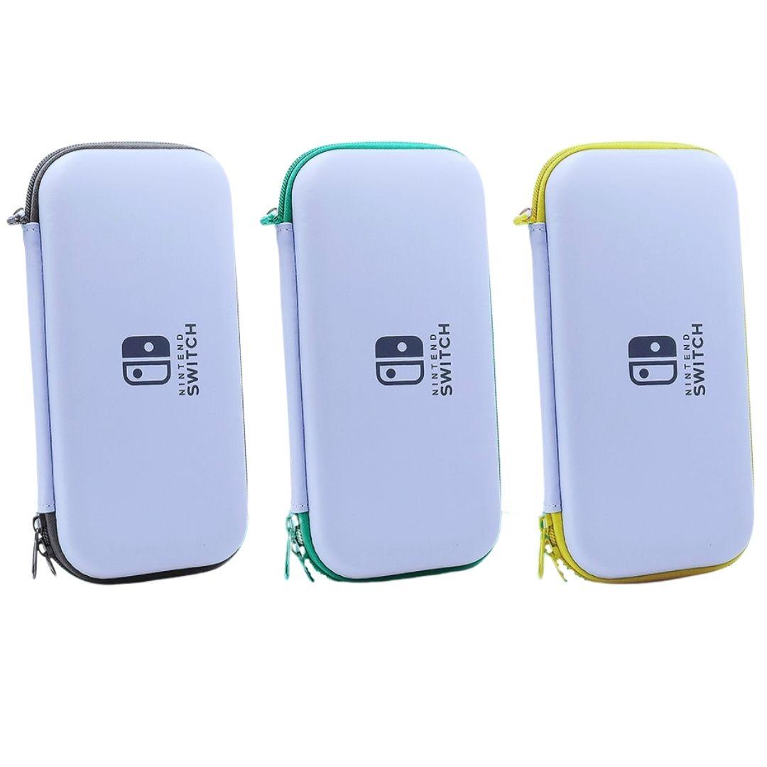 Kit de Proteção - Case + Capa + Película + Par de Protetores Analógicos - Nintendo Switch Lite