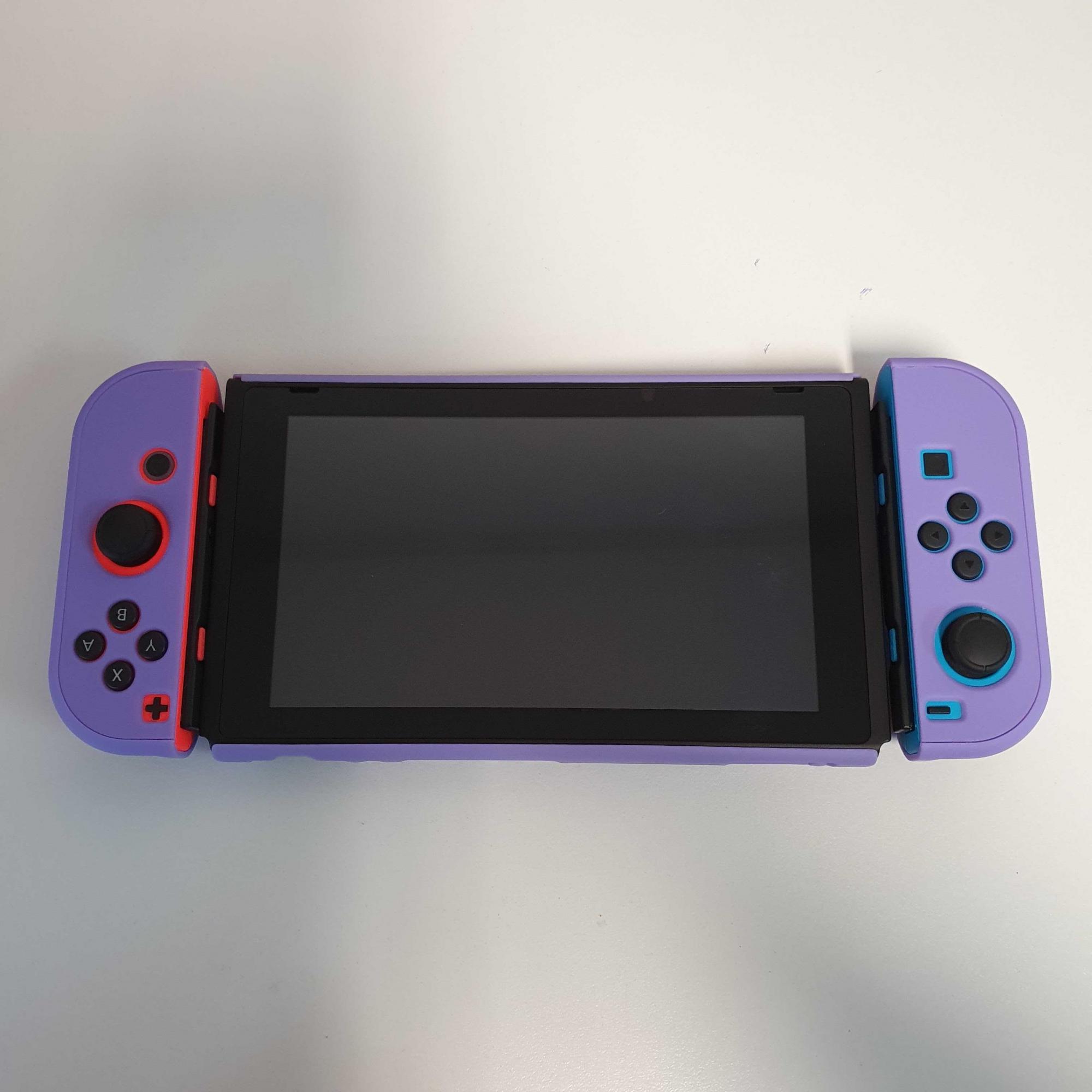 Kit de Proteção - Case + Capa + Película + Par de Protetores Analógicos - Roxo - Nintendo Switch