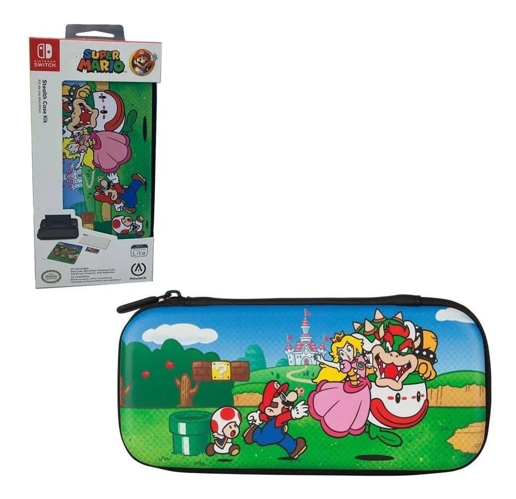 Kit de Proteção PowerA - Case + Película - Mushroom Kingdom - Nintendo Switch Lite