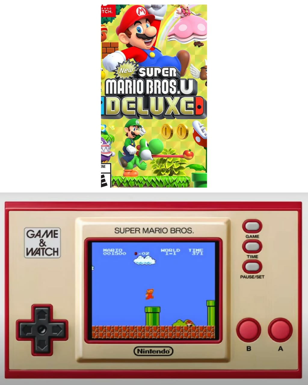 Kit Game & Watch Super Mario Bros +  New Super Mario Bros U Deluxe - Nintendo Switch