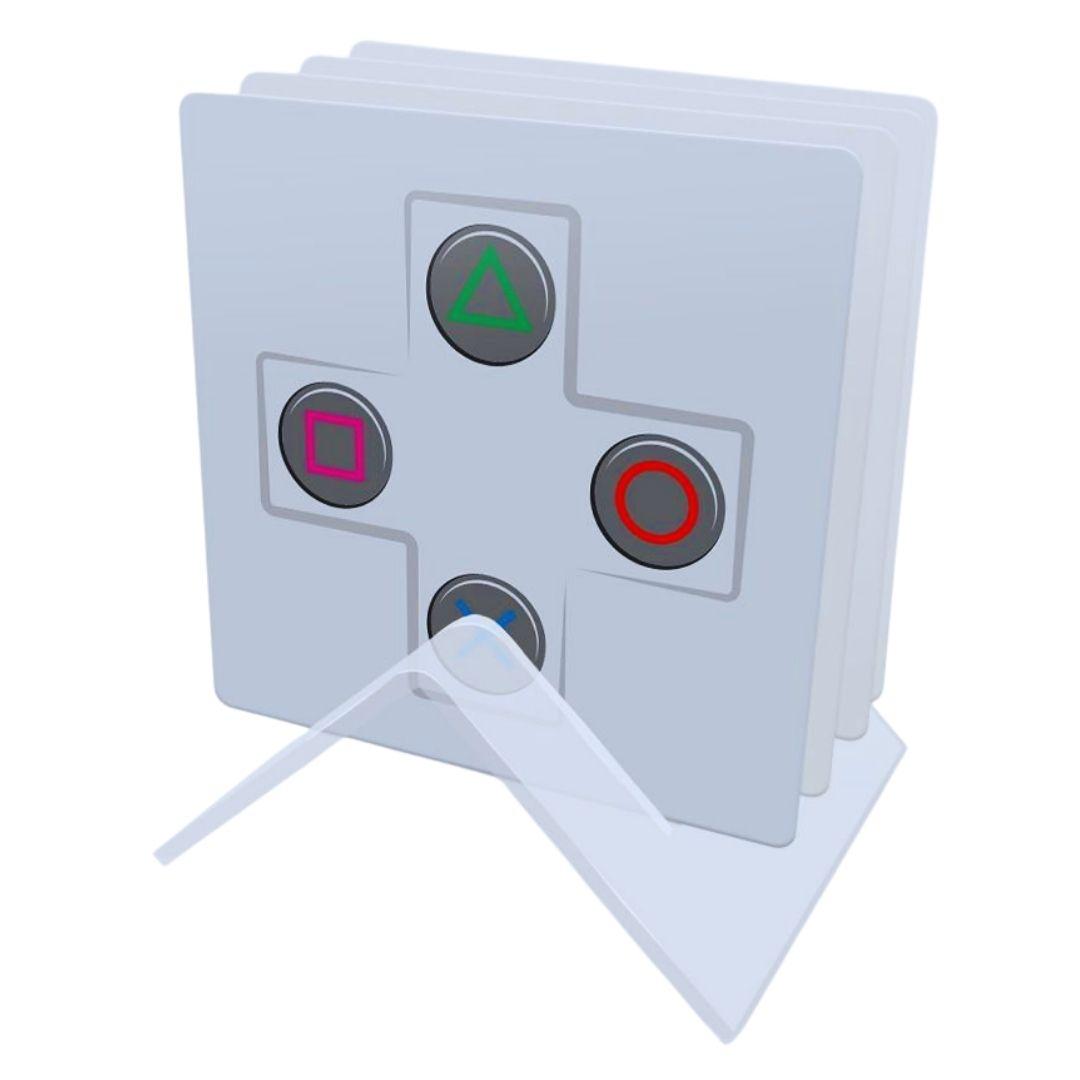 Kit Porta copos de acrílico - Controles - 4 Unidades