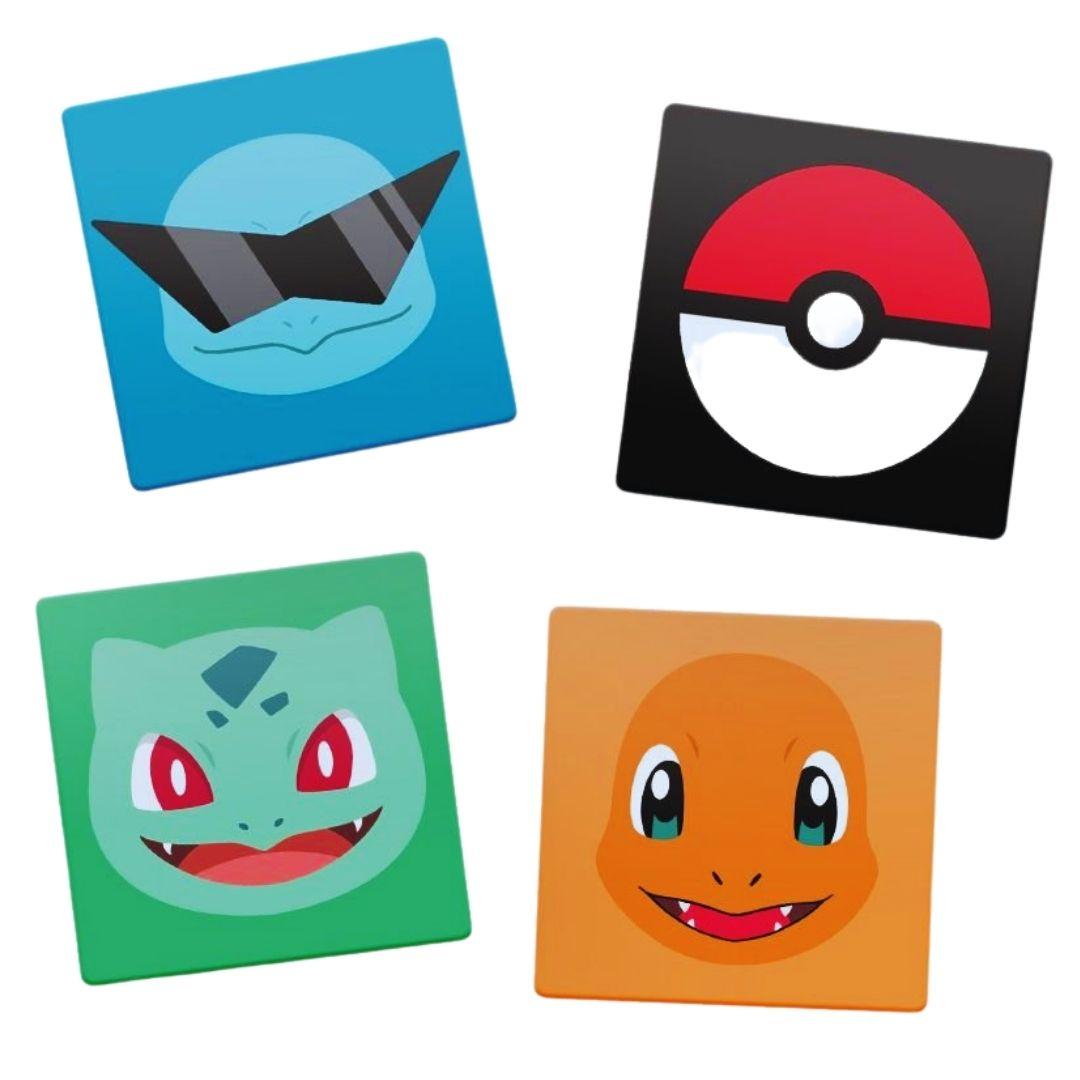 Kit Porta Copos de Acrílico - Pokémon - 4 Unidades
