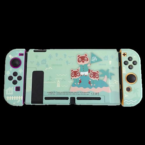 Kit Proteção - Case TPU + Película + Par de Protetores - Animal Crossing - Nintendo Switch