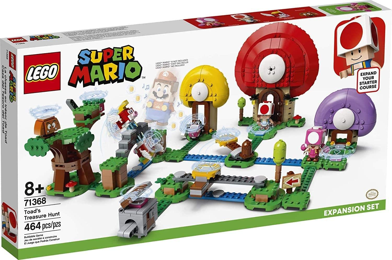 LEGO 71368 - Super Mario - Expansão - A Caça ao Tesouro do Toad