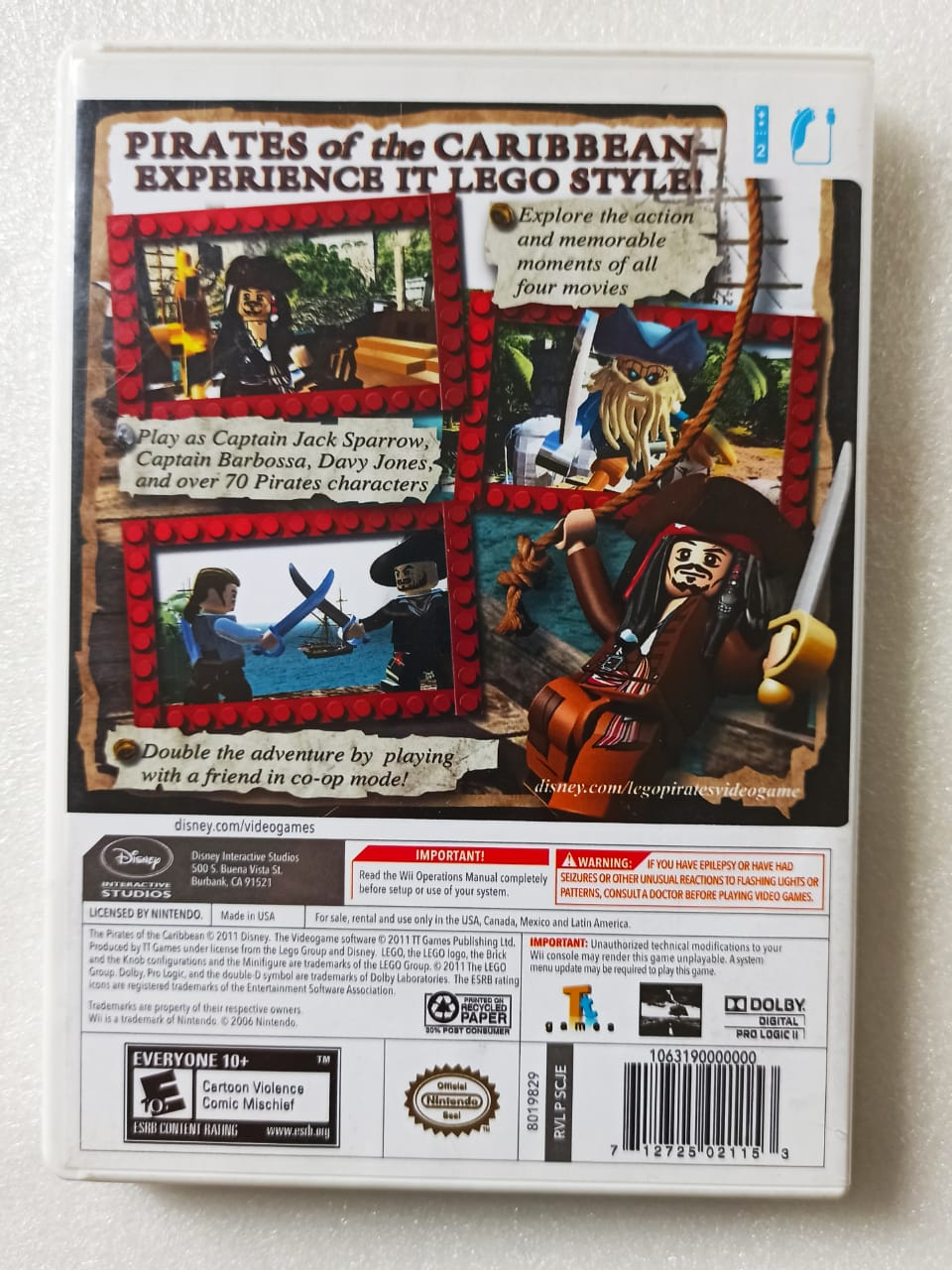 Lego: Pirates of the Caribbean - USADO - Nintendo Wii
