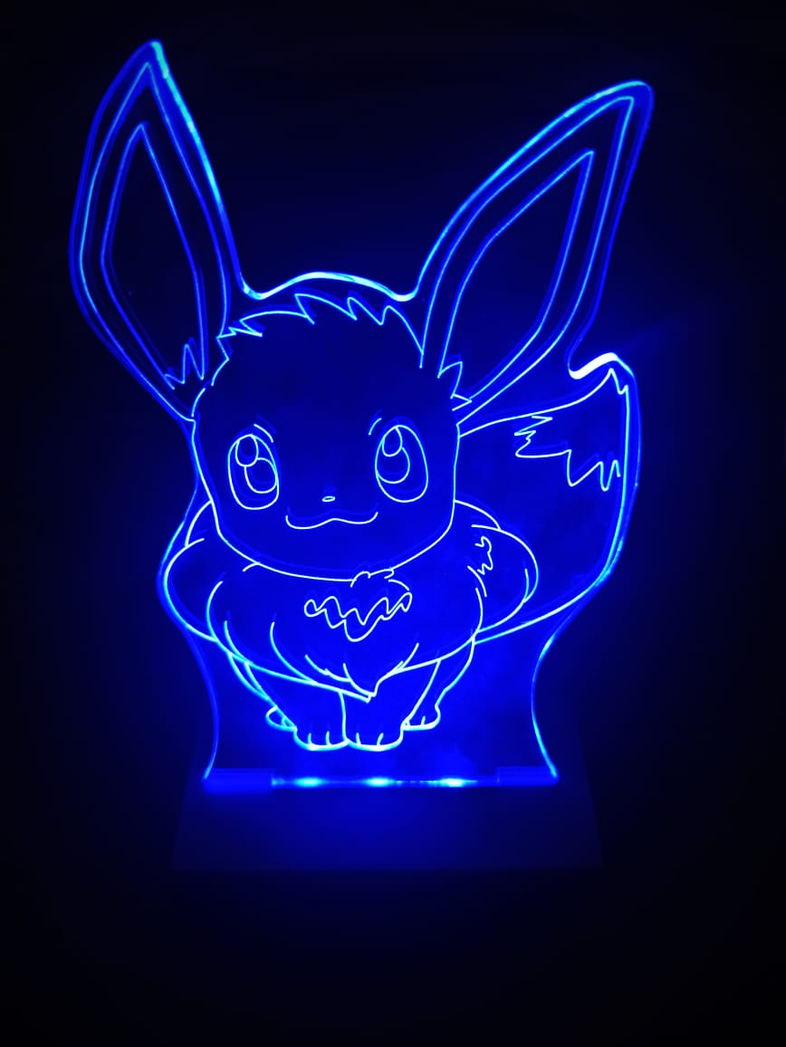 Luminária Pokémon - Led Azul - Eevee