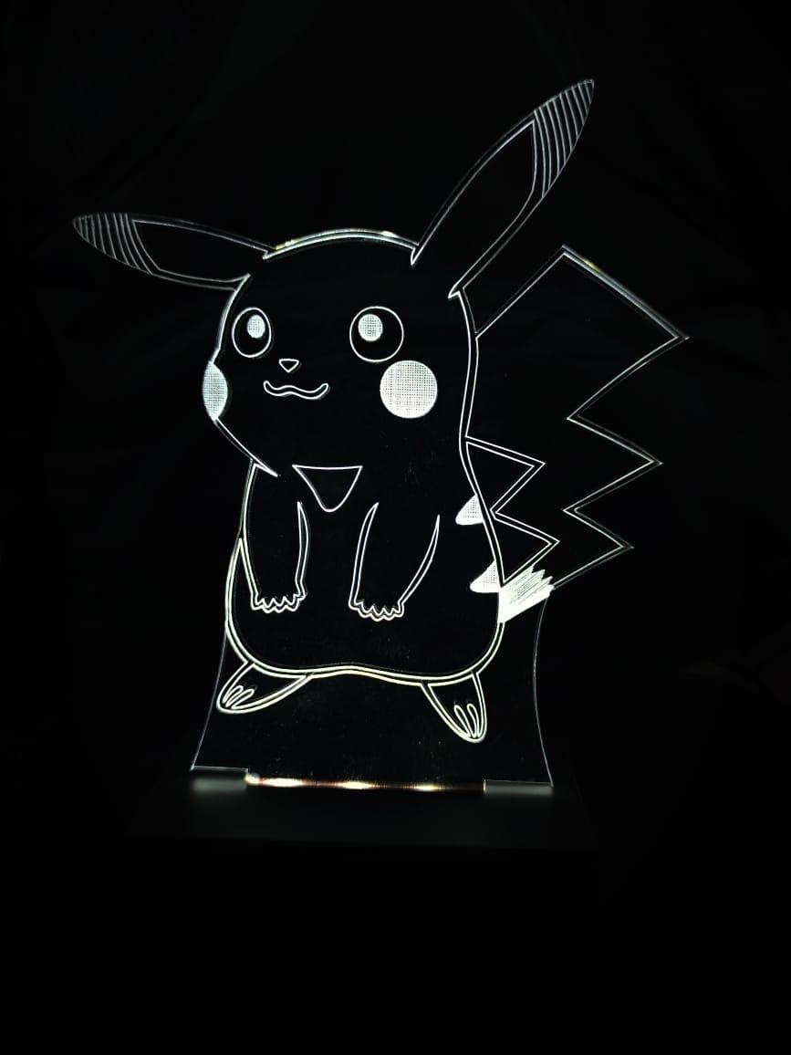 Luminária Pokémon - Led Branco - Pikachu