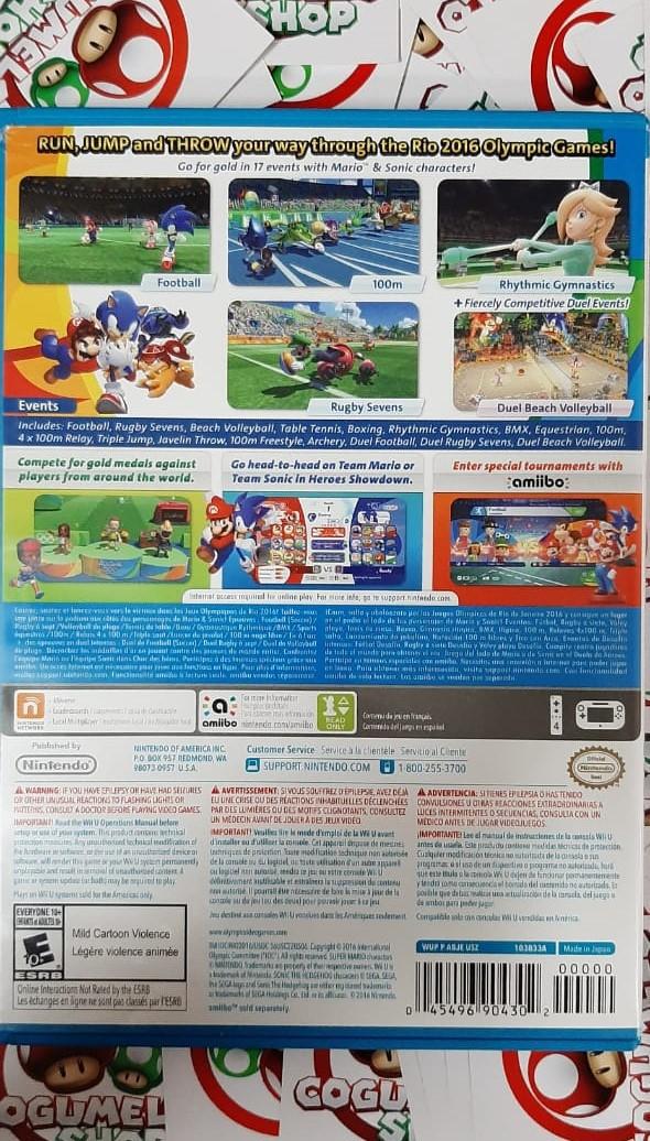 Mario & Sonic at the Rio 2016 Olympic Games - USADO - Nintendo Wii U