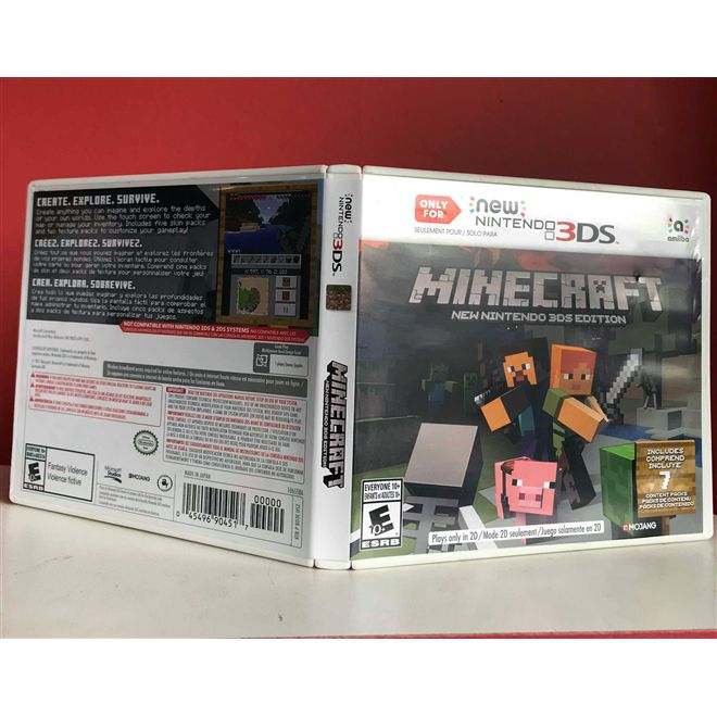 Minecraft New Nintendo 3DS - USADO