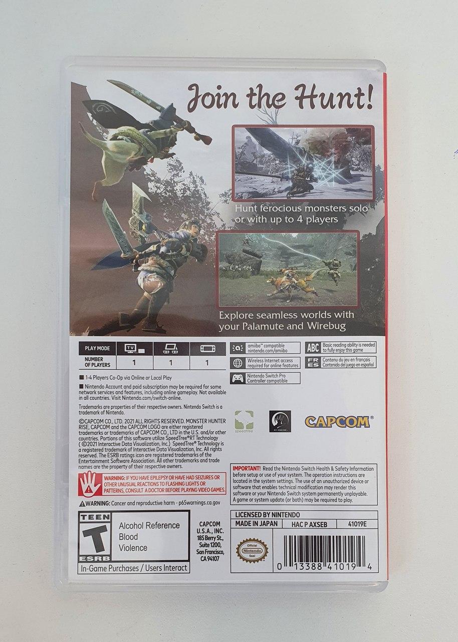 Monster Hunter Rise - Nintendo Switch - Usado