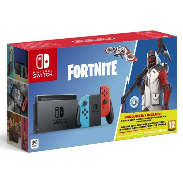 Console Nintendo Switch Americano Neon Com Game Fortnite