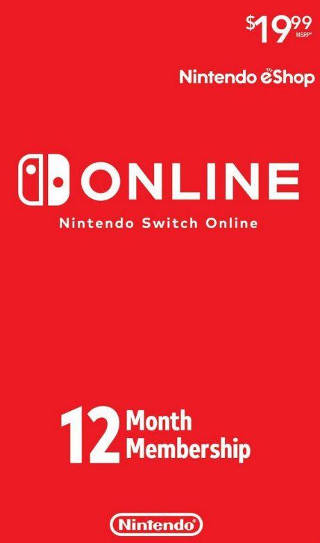 Nintendo Switch Online - Cartão 12 meses - Individual Membership - USA