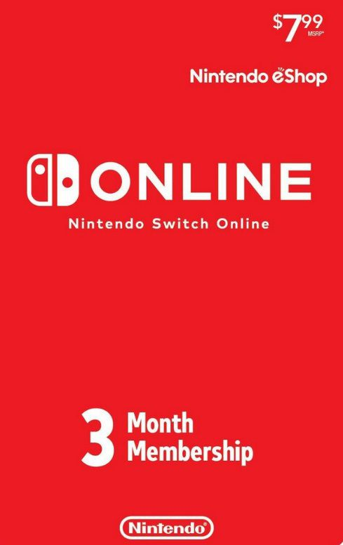 Nintendo Switch Online - Cartão 3 meses - Individual Membership - USA