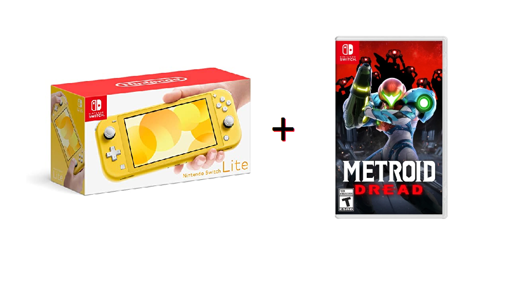 Console Nintendo Switch Lite Nacional (Amarelo) + Metroid DREAD - Nintendo Switch