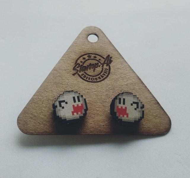 Par de brincos Super Mario: Boo
