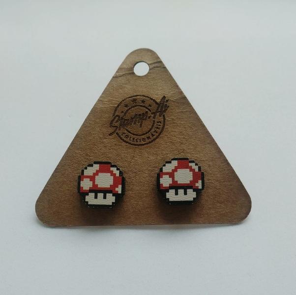 Par de brincos Super Mario: Cogumelo