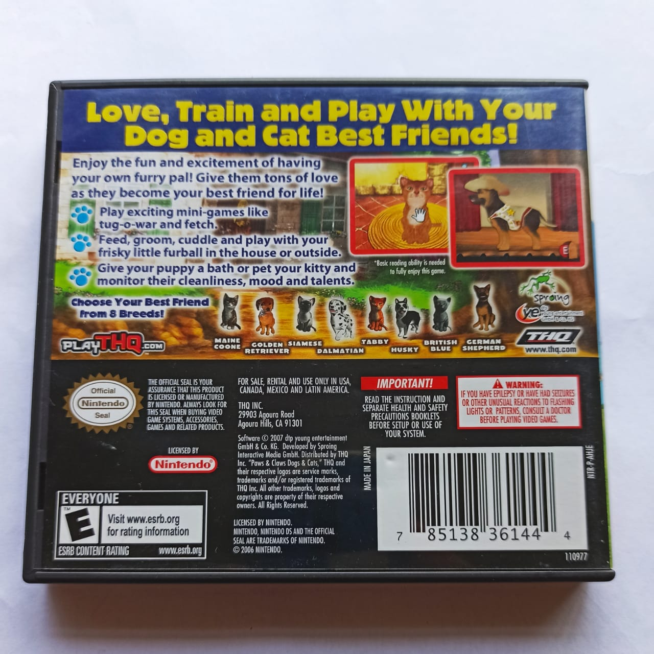 Paws & Claws: Best Friends - USADO - Nintendo DS