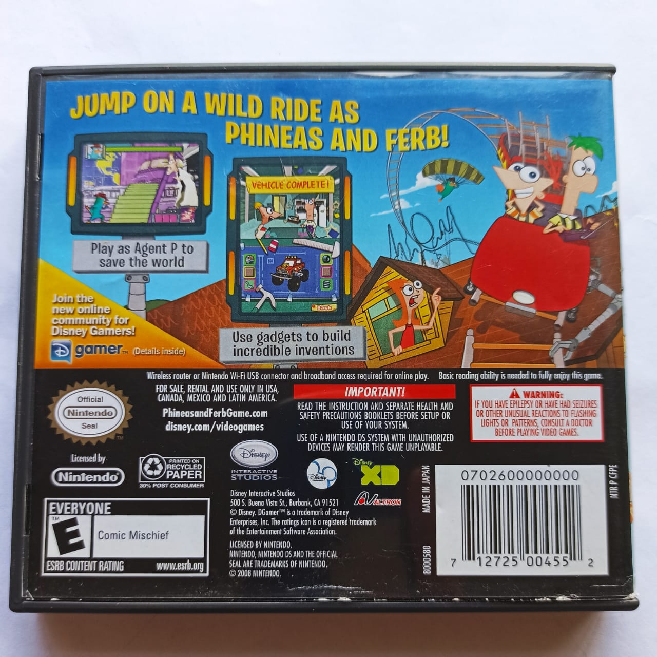 Phineas and Ferb - USADO - Nintendo DS