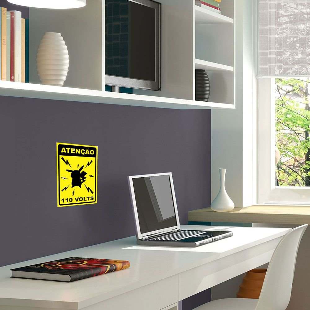 Placa Decorativa 24x16 - Pikachu 110v