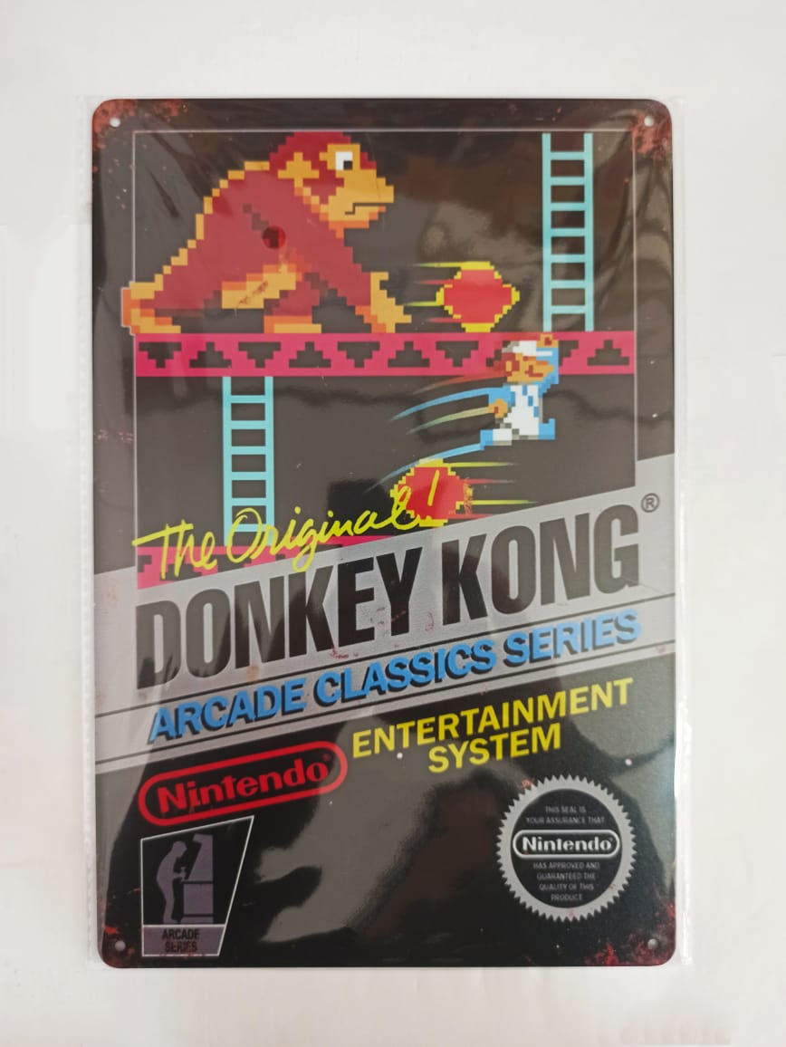 Placa Decorativa - Donkey Kong