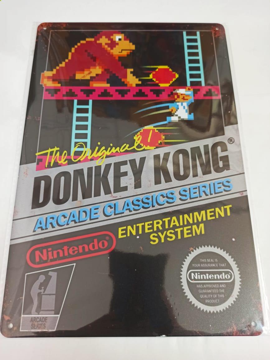 Placa Decorativa - Donkey Kong
