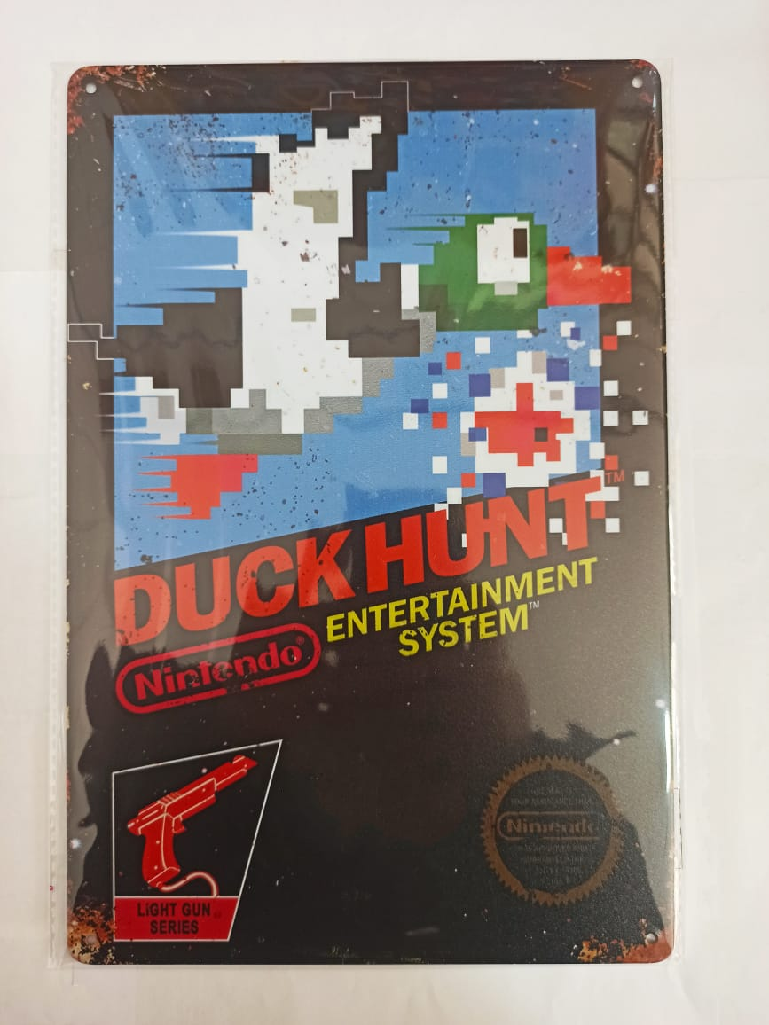 Placa Decorativa - Duck Hunt