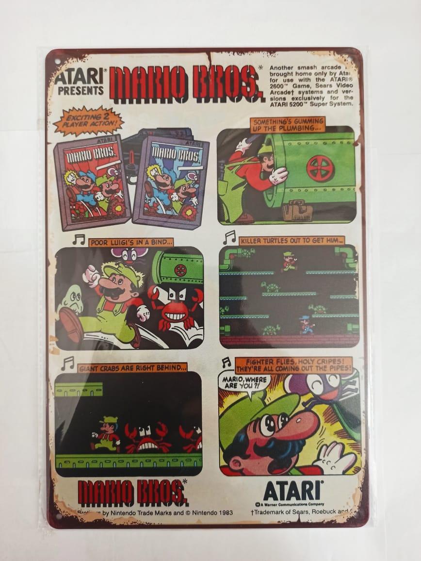 Placa Decorativa - Mario Bros