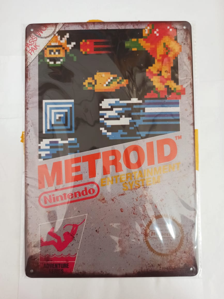 Placa Decorativa - Metroid