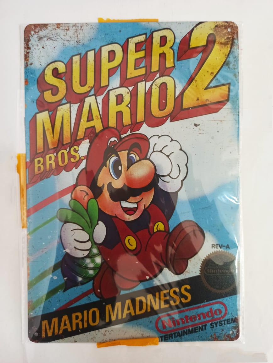 Placa Decorativa - Super Mario Bros 2
