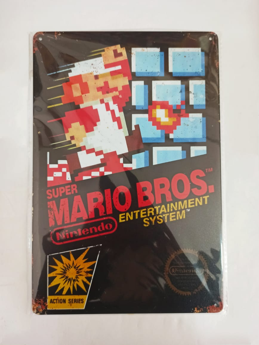 Placa Decorativa - Super Mario Bros