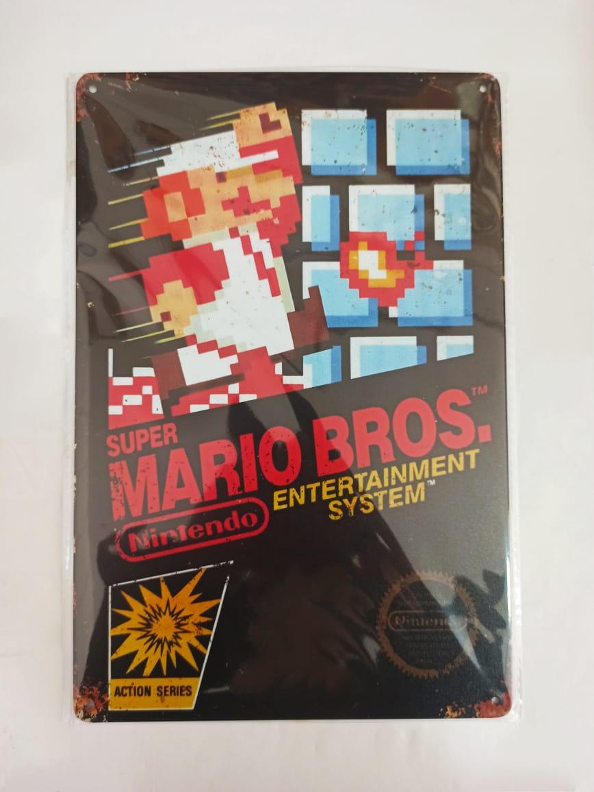 Placa Decorativa - Super Mario Bros