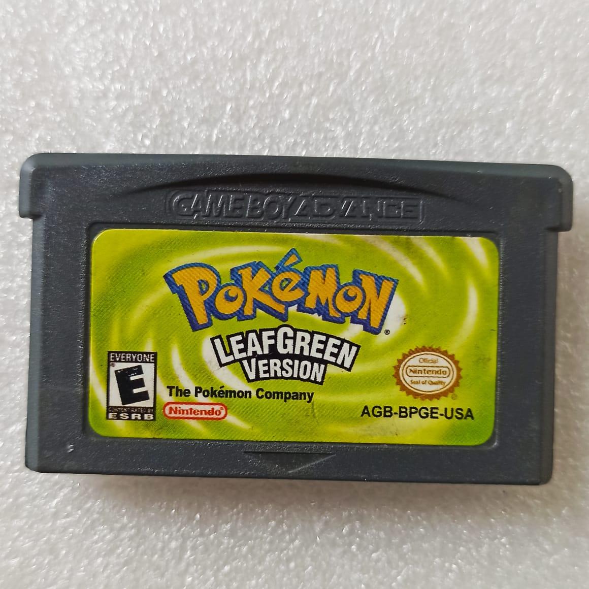 Pokémon: LeafGreen Version - USADO - GBA