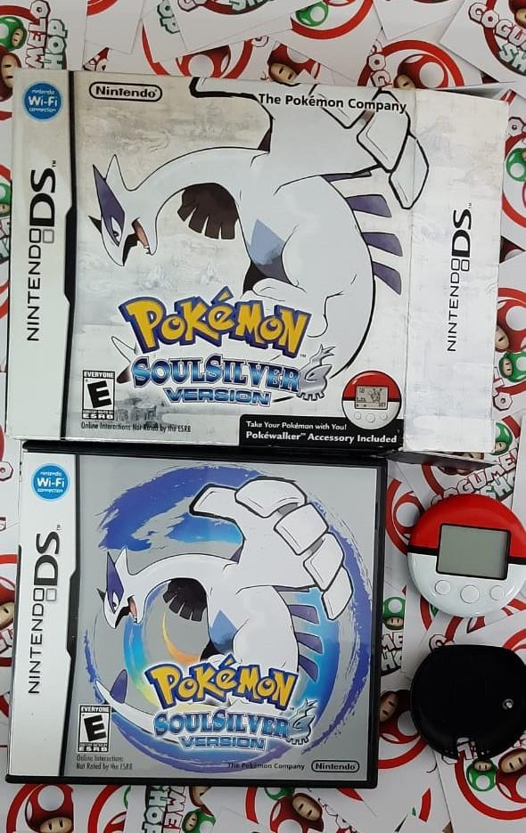 Pokémon SoulSilver Version + Pokéwalker - USADO - Nintendo DS