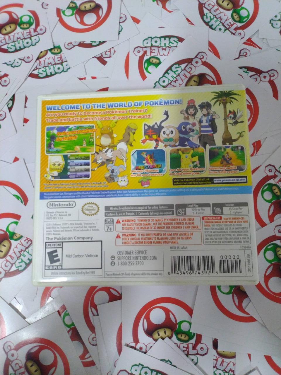 Pokémon Sun - USADO - Nintendo 3DS