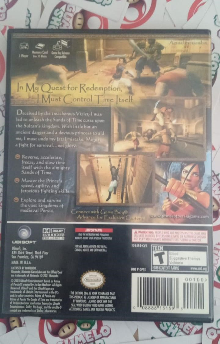 Prince of Persia: The Sands of Time - USADO - Nintendo GameCube