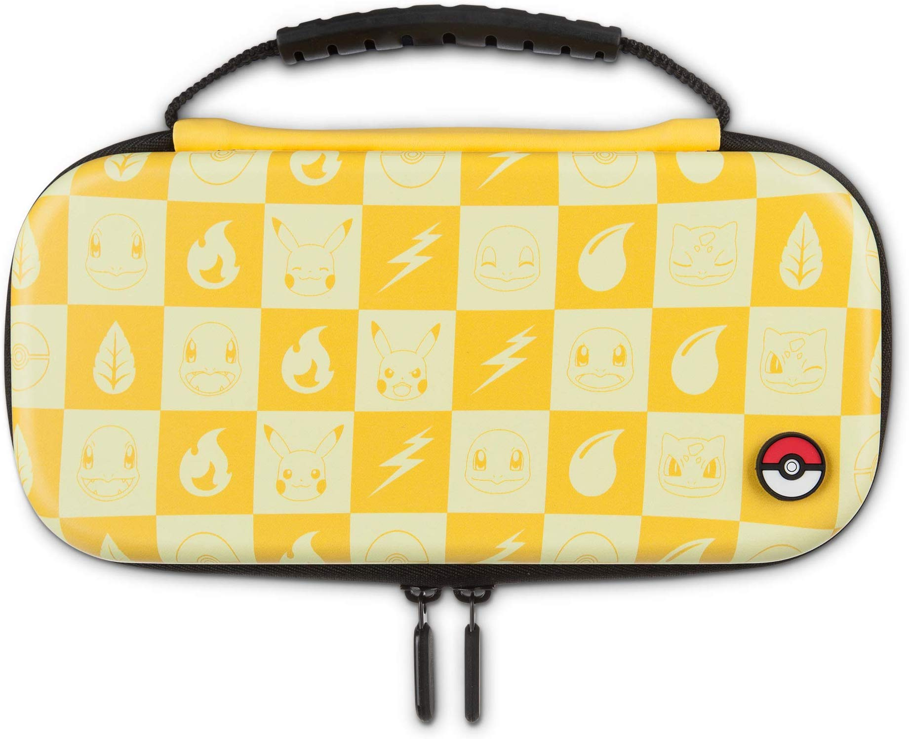 Protection Case Kit Pokemon Checkerboard Powera Yellow - Nintendo Switch Lite