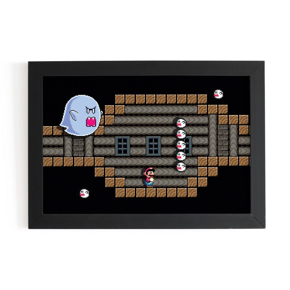 Quadro 3D Super Mario - Big Boo