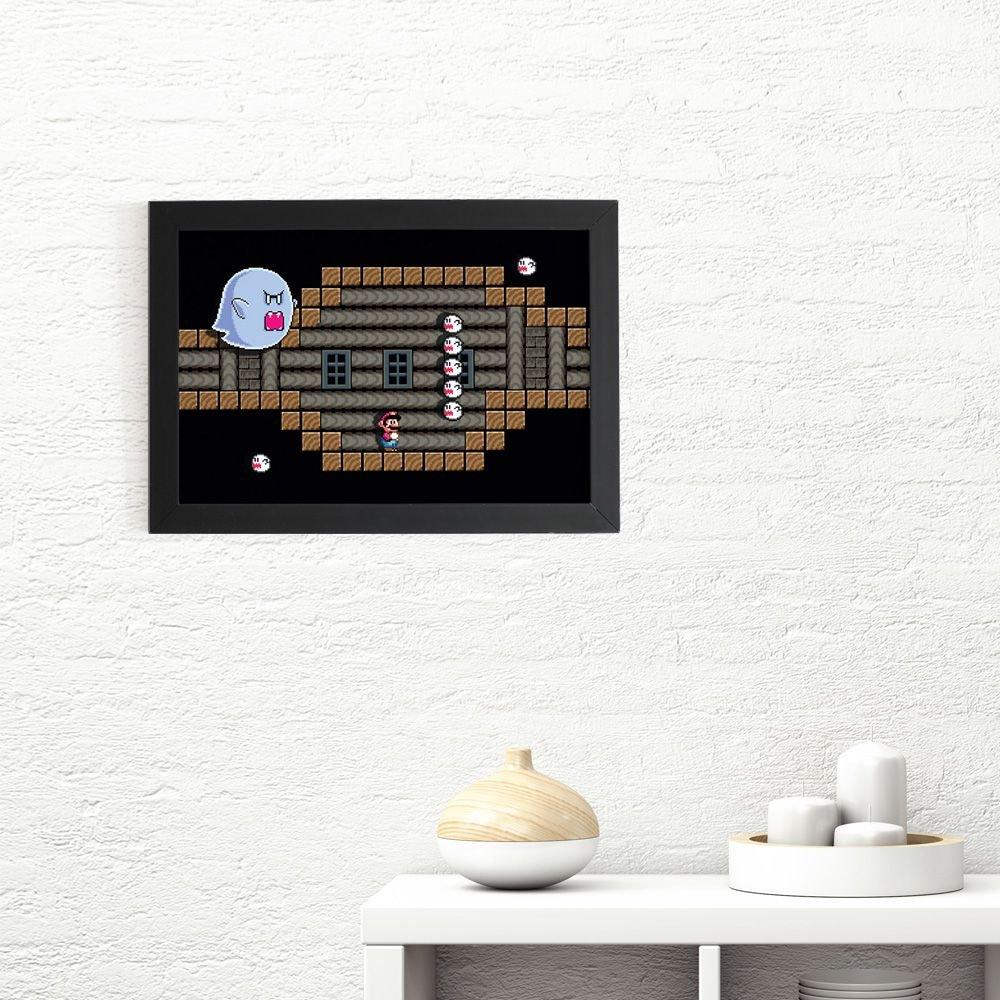 Quadro 3D Super Mario - Big Boo