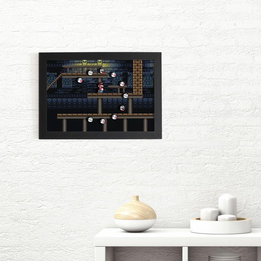 Quadro 3D Super Mario - Fantasmas