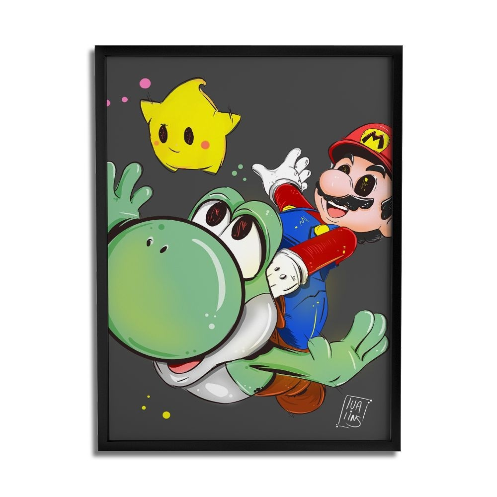 Quadro Decorativo A3 Mario By Lua Lins
