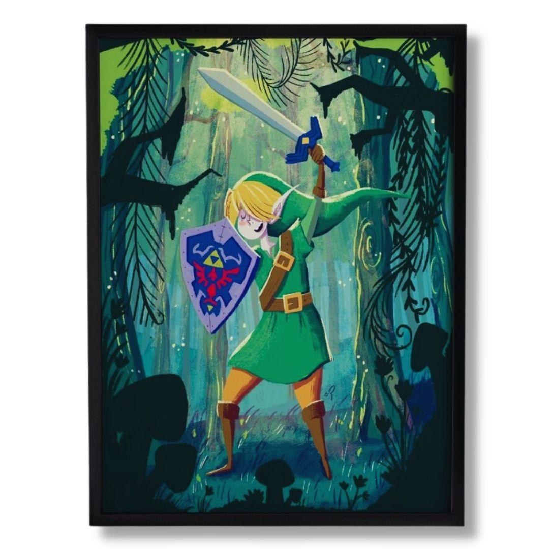 Quadro Decorativo - Zelda - Carol Rempto
