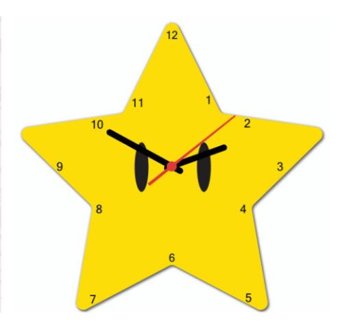 Relógio de Parede Beek - Estrela