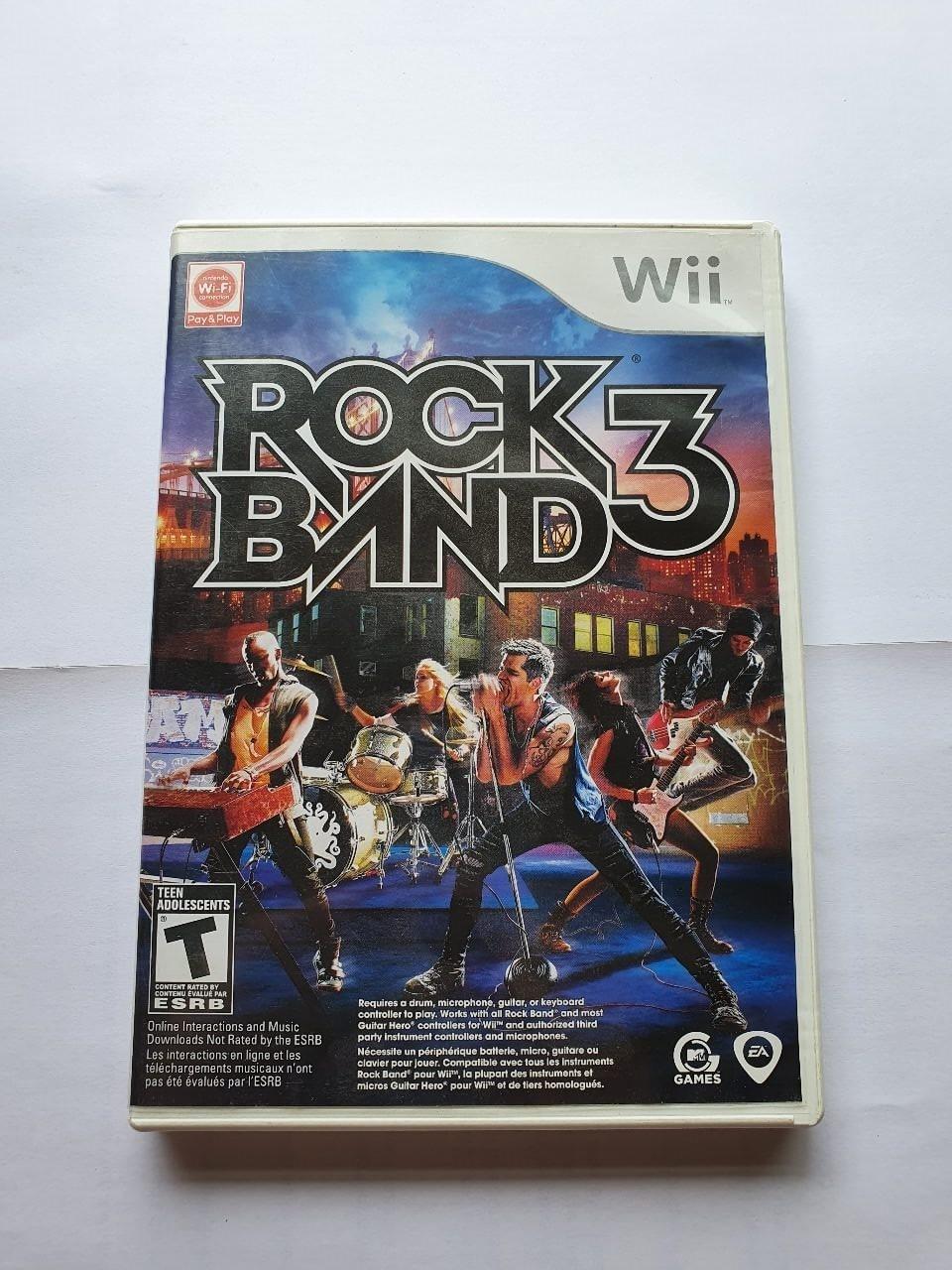 Rock Band 3 - Usado - Wii